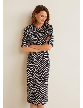"<Font Style=""Vertical Align: Inherit;""><Font Style=""Vertical Align: Inherit;"">Printed Dress With Waistband</Font></Font> by Mango"