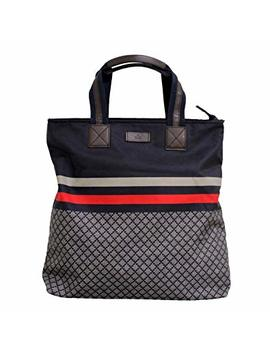 Gucci Unisex Nylon Diamante Tote Travel Bag 268112 by Gucci