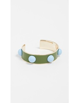 Enamel Stud Cuff by Tory Burch