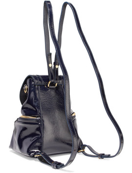 Olga Small Patent Leather Backpack by See By Chloé