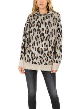 R13 Cashmere Leopard Hoody by R13