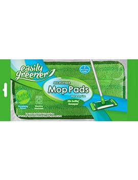 Swiffer Sweeper Compatible, Microfiber Mop Pads By Easily Greener, Reusable Refills For Wet & Dry Use, 2 Count by Easily Greener