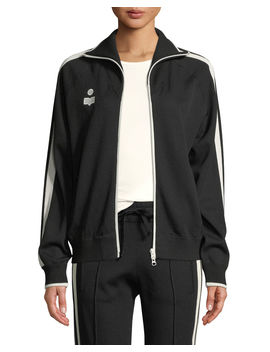 Darcey Zip Front Track Jacket by Etoile Isabel Marant