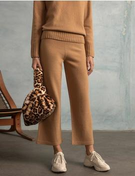 Leopard Faux Fur Pull Through Bag by Pixie Market