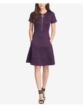 Zippered Fit & Flare Dress, Created For Macy's by Dkny