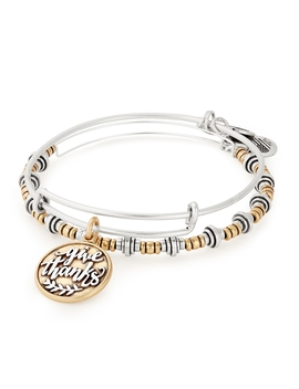 Give Thanks Set Of 2 by Alex And Ani