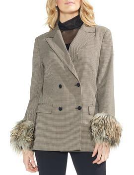 Faux Fur Cuff Blazer by Vince Camuto