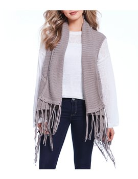 Parker Cable Fringe Vest by Silver Jeans Co.