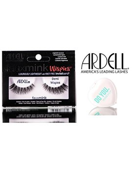 Ardell Professional Faux Mink Designer Lash Collection (With Sleek Compact Mirror) (Demi Wispies) by Ardell Professional