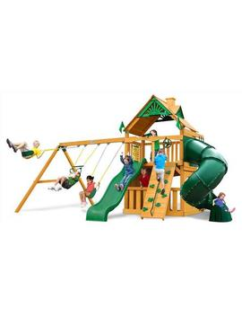 Gorilla Play Sets Mountaineer Clubhouse Swing Set With Amber Posts Gorilla Play Sets Mountaineer Clubhouse Swing Set With Amber Posts by Sears