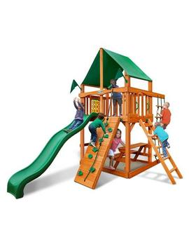 Gorilla Play Sets Chateau Tower Swing Set With Amber Post Gorilla Play Sets Chateau Tower Swing Set With Amber Post by Sears