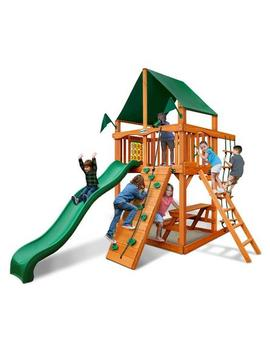 Gorilla Play Sets Chateau Tower Swing Set With Sunbrella Canvas Canopy Gorilla Play Sets Chateau Tower Swing Set With Sunbrella Canvas Canopy by Sears