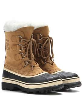 Caribou® Leather And Rubber Boots by Sorel