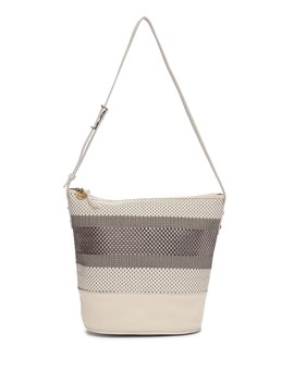 Barolo Woven Leather Bucket Bag by The Sak Collective