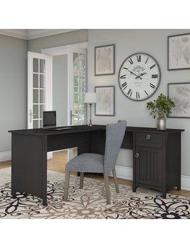 Bush Furniture Salinas L Shaped Desk With Storage In Vintage Black by Bush Furniture