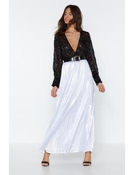 Star Bright Metallic Skirt by Nasty Gal