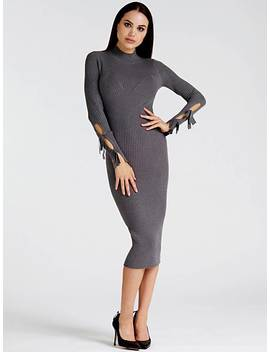 Long Dress With Bows On The Sleeves by Guess