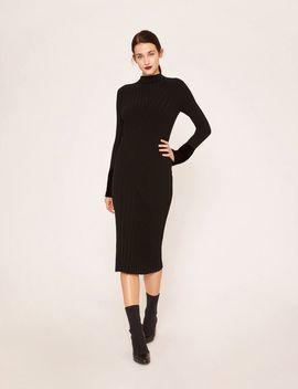 Ribbed Mockneck Sweater Midi by Armani Exchange