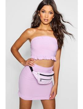 Bandeau Midi Skirt Co Ord Set by Boohoo