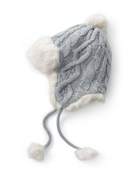 Women's Chunky Cable Peruvian Hat by Lands' End