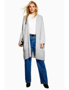 Oversized Pocket Longline Cardigan by Topshop