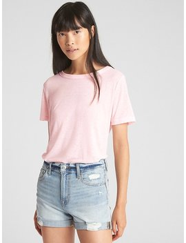 Short Sleeve Lace Up Back T Shirt by Gap