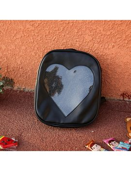 2017 Summer Candy Transparent Love Heart Shape Backpacks Harajuku School Backpack Shoulder Bags For Teenager Girls Book Bag by Msmo
