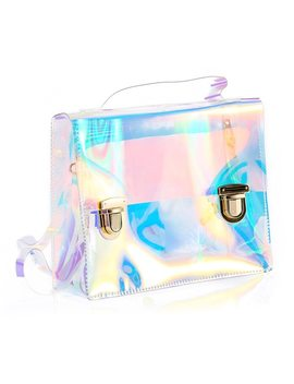 New 2018 Summer Women Handbags Small Clutch Tote Bags Pvc Hologram Female Beach Bag Famous Brand Purse Women Shoulder Bags  by Sophy's World