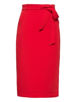 Petite Belted Pencil Skirt With Side Slit by Banana Repbulic