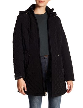 Quilted Fleece Lined Hooded Jacket by Laundry By Shelli Segal