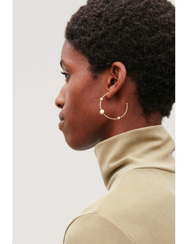 Beaded Hoop Earrings by Cos