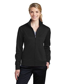 Sport Tek Women's Sport Wick Fleece Full Zip Jacket Lst241 by Sport Tek