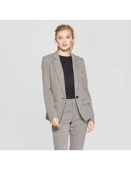 Women's Plaid Menswear Blazer   A New Day™ Gray by A New Day™
