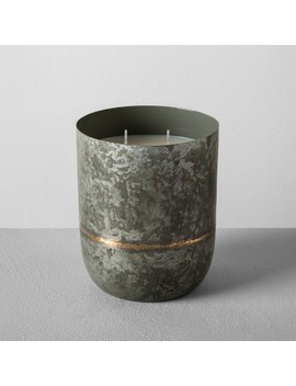 Galvanized Container Candle 25oz   Cedar Magnolia   Hearth & Hand™ With Magnolia by Shop Collections