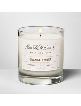 Container Candle 7oz   Orange Amber   Hearth & Hand™ With Magnolia by Hearth & Hand™ With Magnolia