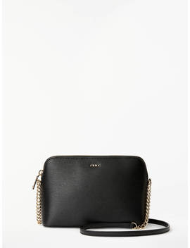 Dkny Bryant Dome Leather Cross Body Bag, Black by Dkny