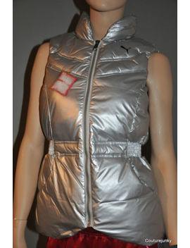 Puma Rime Down Women's/Girls. Vest. Silver  Msrp.  $85.00. Sizes Xs, M, L.Sale by Puma