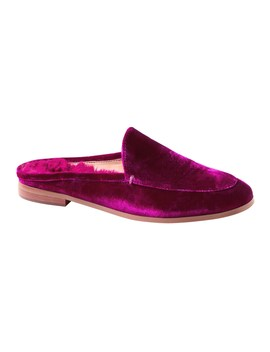 Demi Faux Fur Velvet Loafer Slide by Banana Repbulic