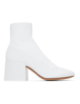 White Sock Ankle Boots by Mm6 Maison Margiela