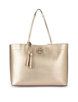 Tory Burch Mcgraw Golden Metal Shopper by Tory Burch