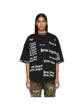 Black Ultra Logo Over T Shirt by Palm Angels
