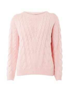Pink Cable Jumper by Dorothy Perkins