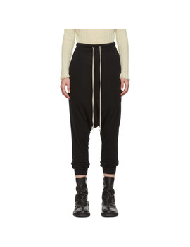 Black Heavy Jersey Lounge Pants by Rick Owens Lilies