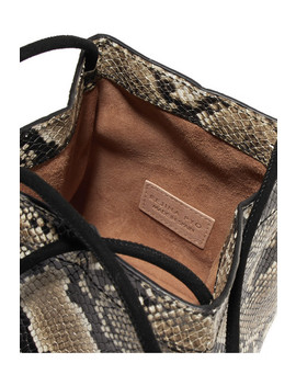 Rita Snake Effect Leather Bucket Bag by Rejina Pyo
