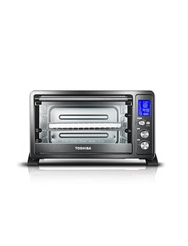Toshiba Ac25 Cew Bs Digital Oven With Convection/Toast/Bake/Broil Function, 6 Slice Bread/12 Inch Pizza, Black Stainless Steel by Toshiba