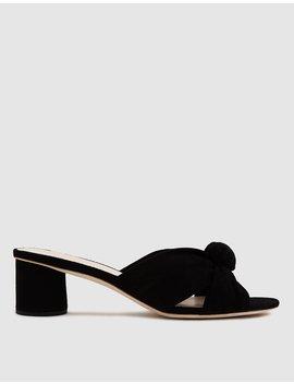 Celeste Mid Heel Knot In Black by Loeffler Randall