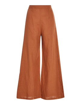 Scelsi Cropped Linen Wide Leg Pants by Faithfull
