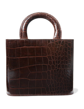 Nic Croc Effect Leather Tote by Staud