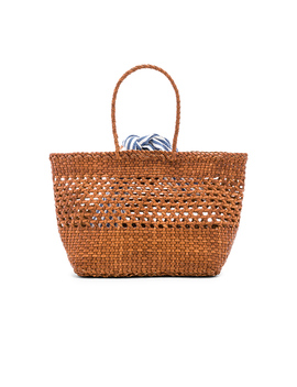 Edith Woven Leather Mini Tote by Loeffler Randall
