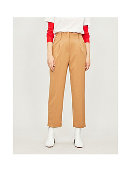 Calin High Rise Straight Woven Trousers by Sandro